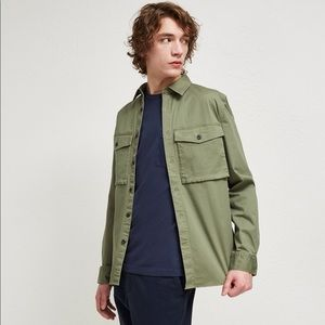 FRENCH CONNECTION military twill shirt-jacket